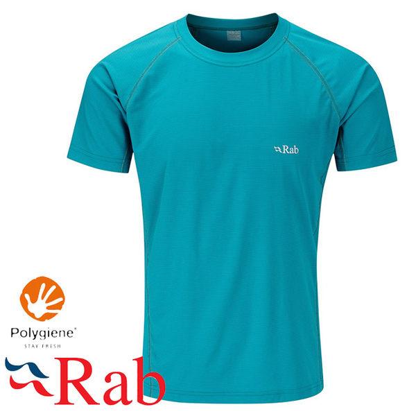 Rab 英國 QBT50-AZ亞馬遜綠 男抗菌排汗短T恤 Interval Tee