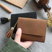 多功能短款韓版皮夾搭扣小錢夾