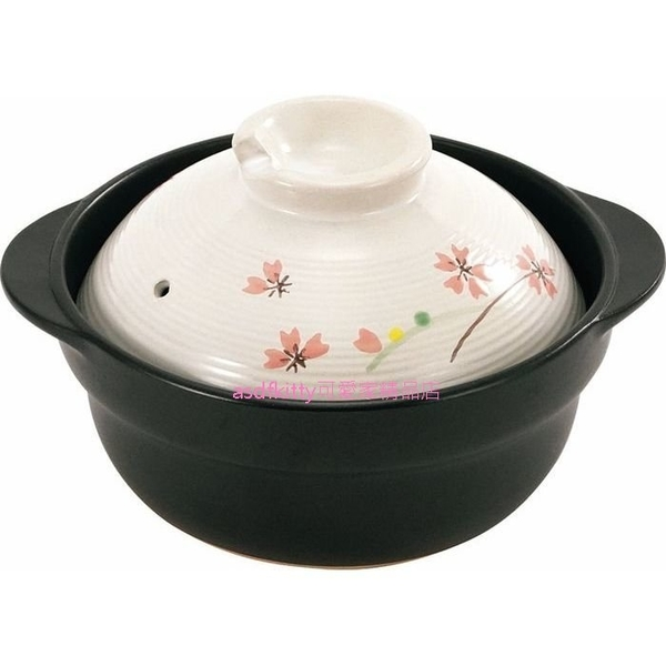 日本Graceramic櫻花砂鍋/土鍋/泡麵鍋-17公分-瓦斯爐直火.微波.烤箱皆可-日本正版商品