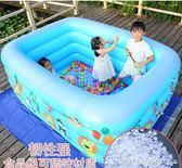泳池 兒童游泳池充氣家庭嬰兒游泳桶成人家用寶寶加厚小孩超大號洗澡池 『全館免運』igo