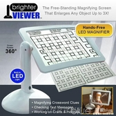 Brighter Viewer LED燈180度旋轉放大閱讀鏡支架放大屏大型放大鏡 深藏blue