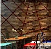 壁貼壁紙 復古新中式仿木頭木板紋木紋墻紙酒吧餐廳古典仿古懷舊服裝店壁紙麻吉鋪   免運