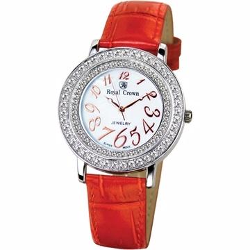 《Royal Crown》3632數字鑲鑽腕錶