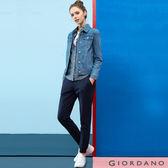 GIORDANO 女裝素色抽繩腰頭針織束口休閒運動褲 - 02 標誌海軍藍