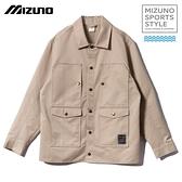 MIZUNO SPORTS STYLE 男裝 外套 休閒 平織 簡約 卡其【運動世界】D2TC007649