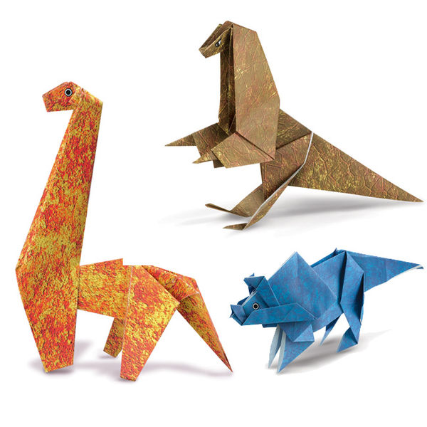 《 4M美勞創作 》恐龍摺紙秀 Origami Making Kit / Dinosaur ╭★ JOYBUS玩具百貨
