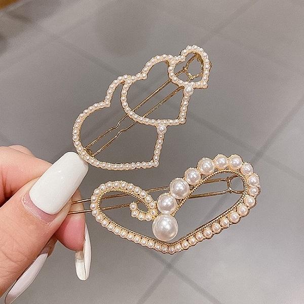 【NiNi Me】韓系髮飾 甜美可愛珍珠青蛙夾髮夾 髮夾 H9531