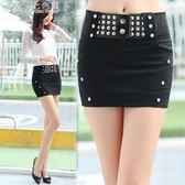 超短裙 春夏季女裝韓版半身裙修身顯瘦包臀裙一步性感百搭A字裙「Chic七色堇」