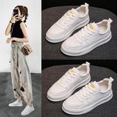 厚底小白鞋女2020年流行鞋子新款韓版學生內增高平底百搭春款板鞋