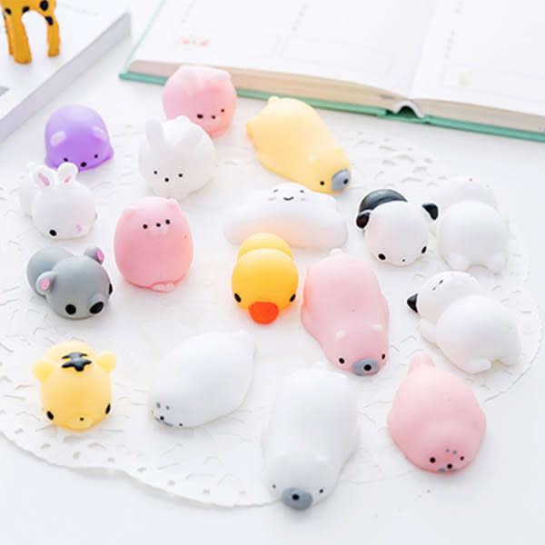 【BlueCat】矽膠麵團小動物捏捏樂解壓玩具