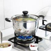 蒂洛克加厚不銹鋼湯鍋蒸鍋火鍋煲湯鍋具家用煮鍋不黏鍋奶鍋電磁爐 歐韓時代