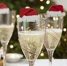 聖誕節紅酒杯插卡聖誕帽酒杯卡節日裝飾聖誕...