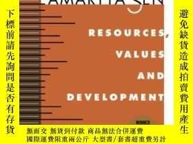 二手書博民逛書店【英文原版罕見好】阿瑪蒂亞·森 Resources, Values, And DevelopmentY2439