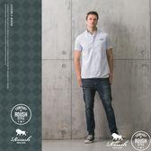 【Roush】 基本款牛津條紋短袖襯衫 -【815009】