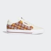Adidas Continental Vulc W [FV5372]女鞋 運動 休閒 帆布 經典 格紋 愛迪達 米 酒紅