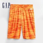 Gap男童 Logo鬆緊休閒短褲 683465-橙色