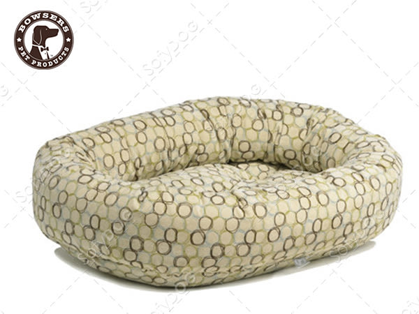 【毛麻吉寵物舖】Bowsers甜甜圈極適寵物床-套圈圈(白)L 寵物睡床/狗窩/貓窩/可機洗
