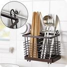 尺寸超過45公分請下宅配壁掛式鐵藝餐具籠廚房可拆卸瀝水筷子籠叉