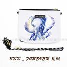 ☆小時候創意屋☆ 泰國 BKK FOREVER 水彩象 曼谷包 夜店晚宴包 手機包 收納包 BKK包 側背包