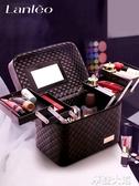大容量韓國化妝包女多功能層小號網紅便攜手提化妝品收納盒簡約箱『摩登大道』