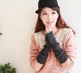 保暖袖套-手臂套袖套女秋冬長款加厚假袖子羊毛針織半指手套保暖胳膊套 花間公主