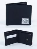 Hsin 9折 現貨 Herschel Roy Coin Wallet 黑色 全黑 零錢袋 帆布 皮夾 短夾 錢包