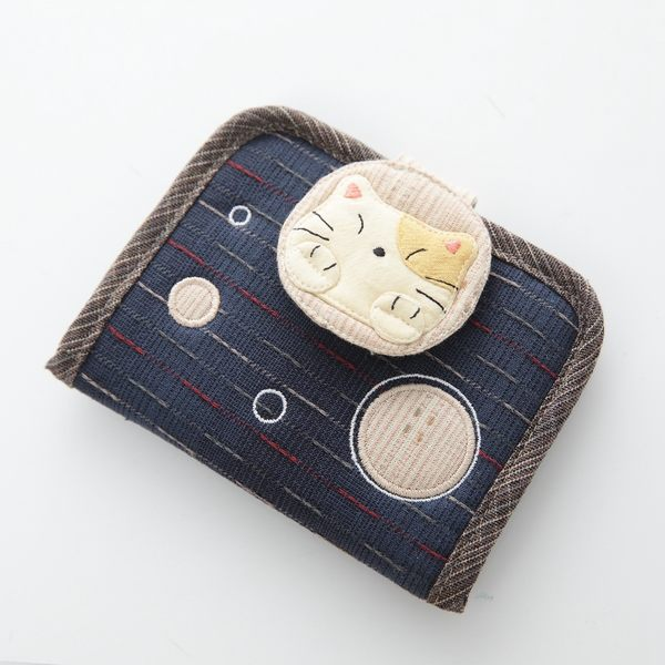 卡片夾/Kiro貓‧日系貓咪拼布包  泡泡 可拆式多層卡片&內含透明夾收納包【270005】