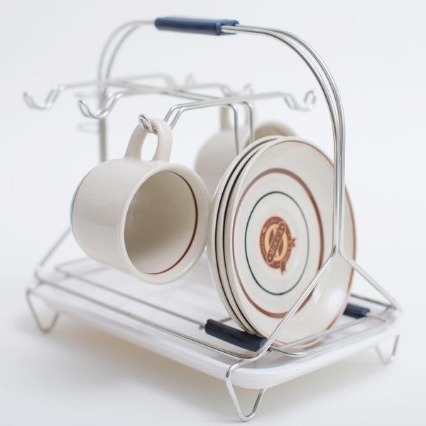馬克杯 咖啡 【D0055】不鏽鋼咖啡杯架(白美奈盤) MIT台灣製  完美主義
