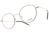 CARIN 光學眼鏡 SEVIGNY C1 (玫瑰金-黑) 韓星秀智代言 經典復古圓框款 # 金橘眼鏡