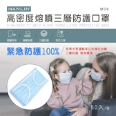 【晉吉國際】HANLIN-MSK 高密度熔噴三層防護口罩(此商品非醫療級口罩)