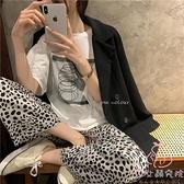 睡衣女夏季純棉長褲短袖兩件套裝寬松休閒家居服【少女顏究院】