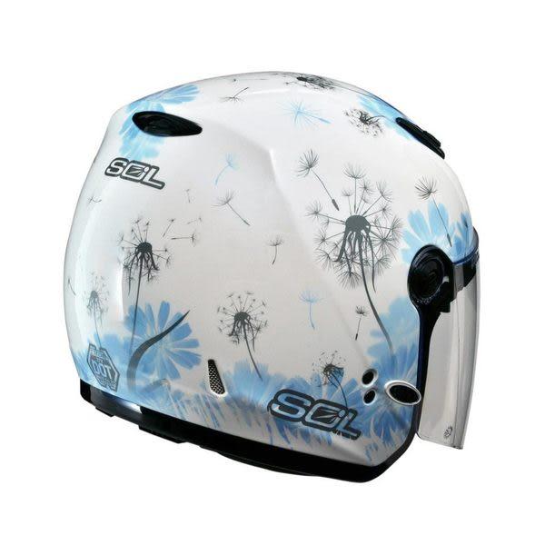 SOL安全帽,27Y,蒲公英/白藍