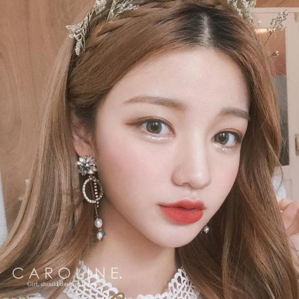 《Caroline》★韓國熱賣造型時尚Bling  Bling 絢麗閃亮動人耳環70183