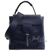 茱麗葉精品【全新現貨】TODS JOY 小牛皮雙層造型兩用包.深藍