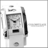 純白色系JAGA捷卡石英限量手錶 超實用防水50米 柒彩年代【NE894】原廠公司貨