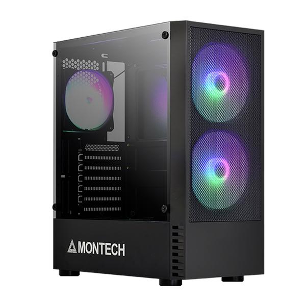 Montech 君主 X2 MESH ATX RGB 含風扇*3 玻璃透側 黑色 機殼