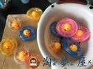 大小黃鴨子游泳圈洗澡玩具沐浴戲水泡澡捏捏叫【淘夢屋】