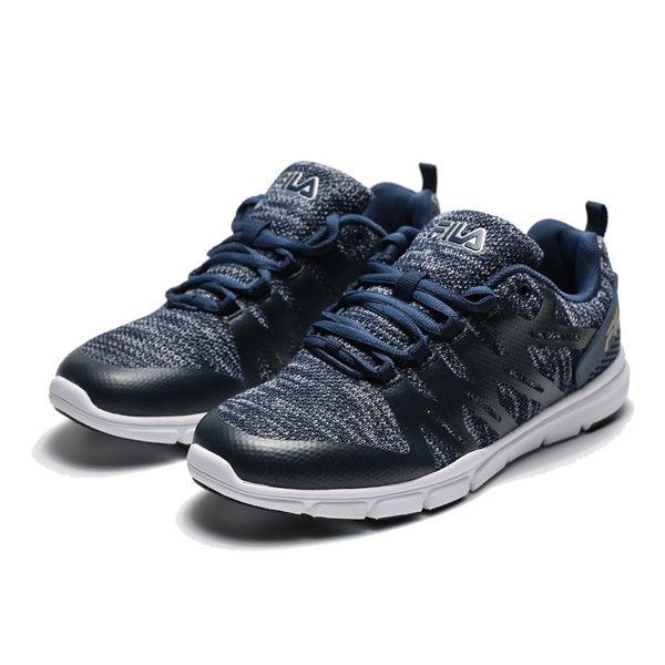 FILA 深藍 黑灰 網布 輕量 透氣 慢跑鞋 運動鞋 男 (布魯克林) 1X910R313