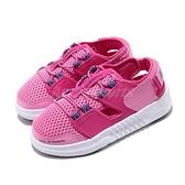 New Balance 涼拖鞋 YTTRKLC1 W Wide 寬楦 粉紅 藍 女鞋 大童鞋 中童鞋 魔鬼氈 涼鞋【ACS】 YTTRKLC1W