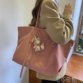手提包 新款韓版通勤托特包女大容量手提包牛津布簡約單肩子母大包潮 快速出貨