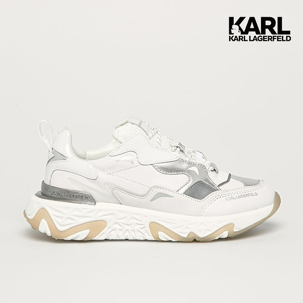 (67折出清)【KARL LAGERFELD】BLAZE Strike綁帶運動鞋-白 (原廠公司貨)