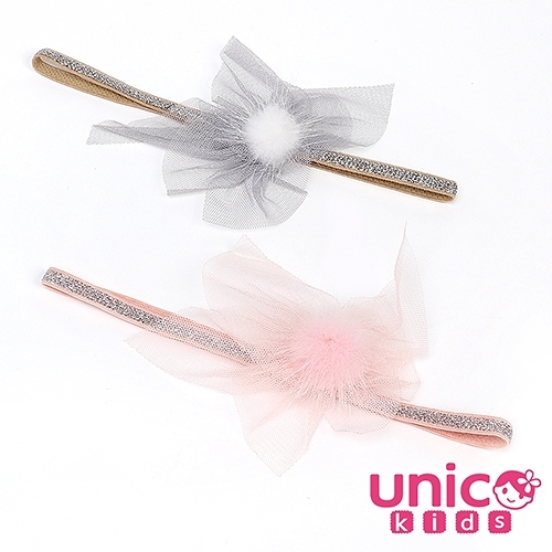 UNICO 兒童 可愛網紗公主風造型髮帶