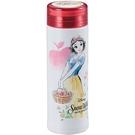 Pearl 細身輕量保溫保冷不鏽鋼隨手瓶 300ml 迪士尼 白雪公主 花朵 紅_PA42252