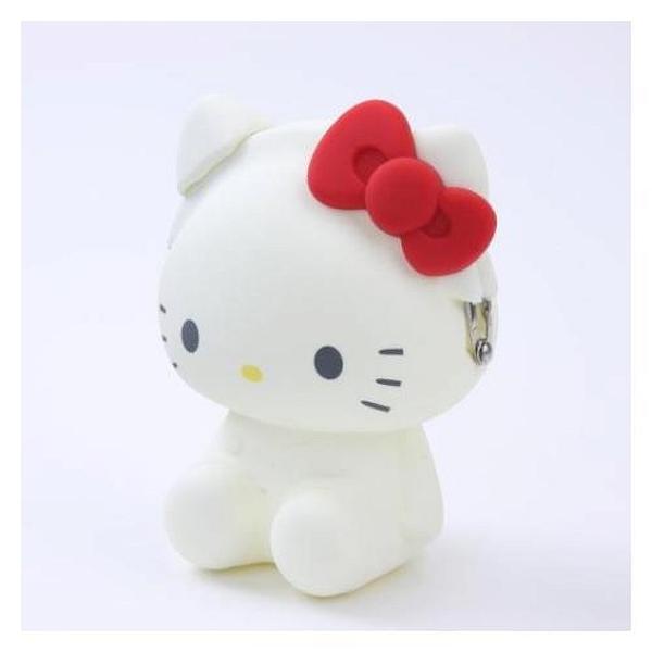 【震撼精品百貨】Hello Kitty 凱蒂貓~kitty 3D 矽膠人形零錢包-白#77676