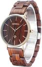 Bewell【日本代購】復古懷舊木錶 女錶烏木 - W163AL-RD