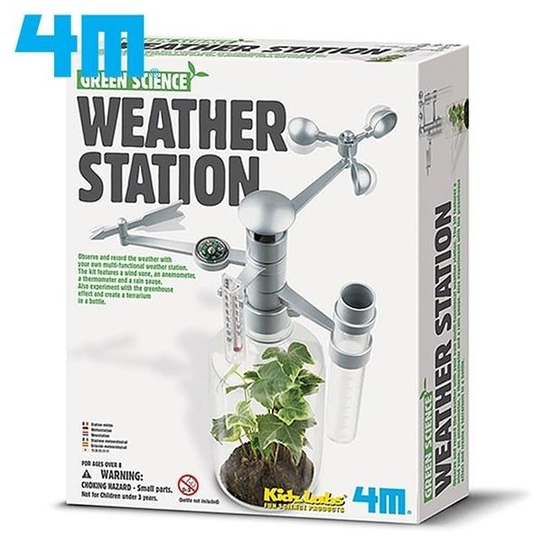 【南紡購物中心】4M綠色科學Weather Station環保氣象台00-03279觀察天氣候溫度溼度風向