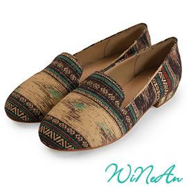 WINEAN薇妮安-都會時尚日式雅痞休閒鞋(古典褐南美風格)-WNA-1006
