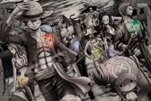 【拼圖總動員 PUZZLE STORY】上陸(黑白) 日本進口拼圖/Ensky/海賊王 One Piece/1000P/環保塑膠