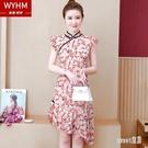 2020年春款流行款旗袍改良版洋裝年輕款時尚夏季裙子超仙收腰女 HX5538【Sweet家居】