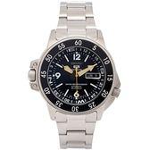 SEIKO 盾牌5號的潛水200米機械手錶(SKZ211K1)-黑面X銀色/40mm